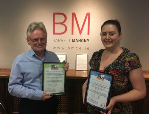 Barrett Mahony Achieve ISO 9001:2015 and 14000:2015