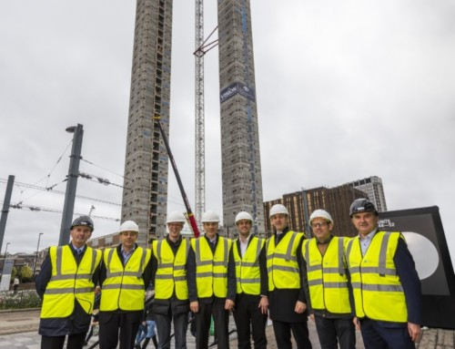 World's tallest modular towers hit major milestone