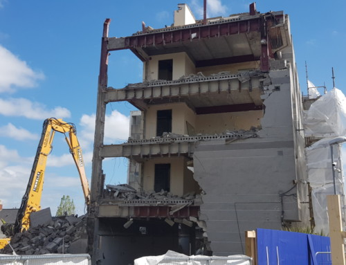 Demolition gets underway at the former Tara Towers Hotel Site